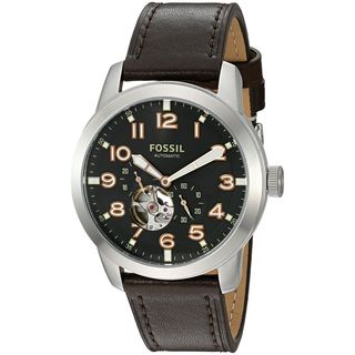 Fossil Men's ME3118 'Pilot 54' Chronograph Automatic Brown Leather Watch