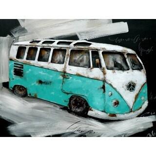 Benjamin Parker 'Get On The Bus' Metal 48-inch Wall Art