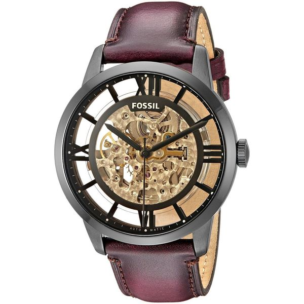 d7a6337da Shop Fossil Men's ME3098 'Townsman' Automatic Brown Leather Watch - Free  Shipping Today - Overstock - 11934906