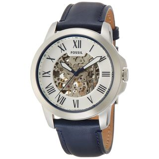 Fossil Men's ME3111 'Grant' Automatic Blue Leather Watch