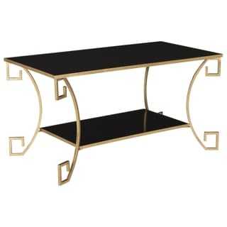 Safavieh Yasemeen Antique Gold Leaf Coffee Table