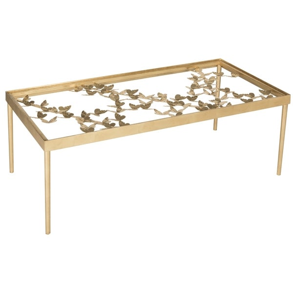 Antique Gold Coffee Table: Shop Safavieh Rosalia Antique Gold Leaf Coffee Table