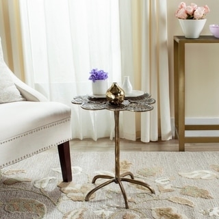 Safavieh Alene Antique Brass Side Table