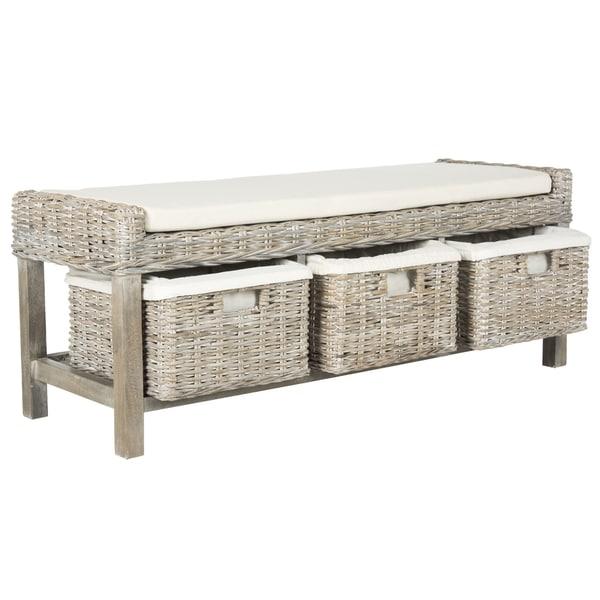 Safavieh Kobutsu White Storage Bench