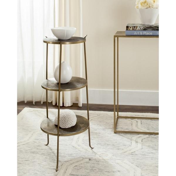 Safavieh Corey Antique Copper Coffee Table: Shop Safavieh Elda Brass Side Table