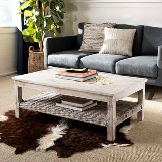 "Safavieh Minerva White Coffee Table - 43.7"" x 26.2"" x 15.7"""