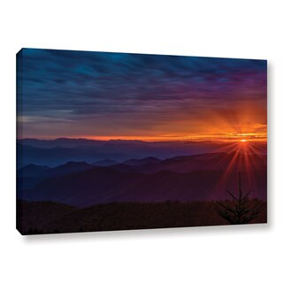 Tom Croce's 'Blue Ridge Parkway Sunset' Gallery Wrapped Canvas