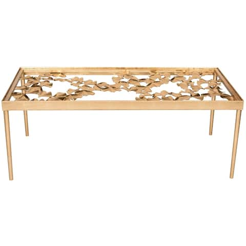 "Safavieh Otto Antique Gold Leaf Coffee Table - 48"" x 24"" x 17.8"""