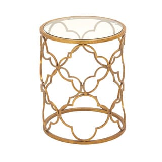 Gold Metal/Glass Accent Table