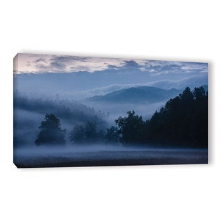 Tom Croce's 'Blue Smoky Mountains' Gallery Wrapped Canvas