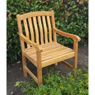 Sherwood Brown Teak Armchair