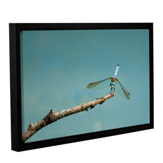 Tom Croce's 'Dragon Fly on a Stick' Gallery Wrapped Floater-framed Canvas