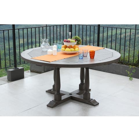 Cambridge Casual Renley Round Dining Table - Weathered Grey
