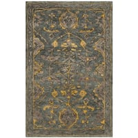 Safavieh Handmade Bella Blue Grey/ Gold Wool Rug - 2'6 x 4'