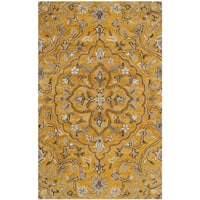Safavieh Handmade Bella Gold/ Taupe Wool Rug - 2'6 x 4'