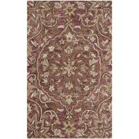 Safavieh Handmade Bella Rose/ Taupe Wool Rug - 2'6 x 4'