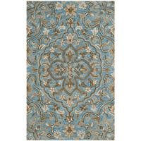 Safavieh Handmade Bella Blue/ Taupe Wool Rug - 2'6 x 4'