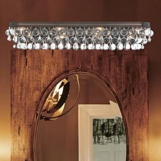Ordinaire Crystorama Calypso Collection Vibrant Bronze 8 Light Bath/Vanity Light