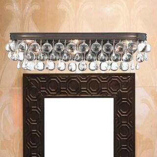 Crystorama Calypso Collection Bronze Brass/Glass 6-light Vibrant Bath/Vanity Light