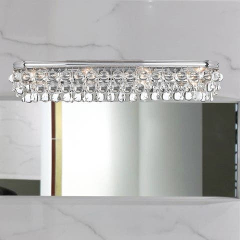 8-light Chrome/Glass Bath/Vanity Light - Chrome