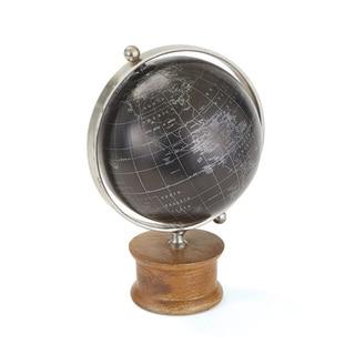 Black Globe on Wood