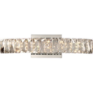 Quoizel Platinum Collection Gala Polished Chrome and Crystal Glass Jeweled Wall Fixture