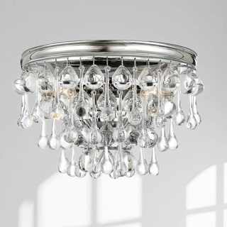 Crystorama Calypso Collection Polished Chrome 2-light Wall Sconce With Clear Glass Teardrops