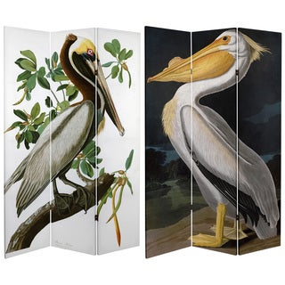 Double Sided Audubon Pelican 6-foot Tall Canvas Room Divider