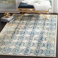 Safavieh Evoke Vintage Floral Ivory / Blue Distressed Rug (3' x 5')