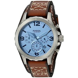 Fossil Men's JR1515 'Nate' Chronograph Brown Leather Watch