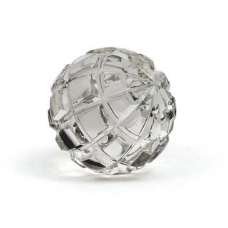 Hip Vintage Swirly Cut Glass Ball