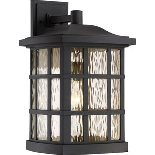 Quoizel Coastal Armour Stonington Black Plastic Wall Lighting With GU24 Base
