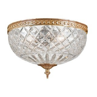 Crystorama Traditional Olde Brass 2-light Flush Mount Light Fixture