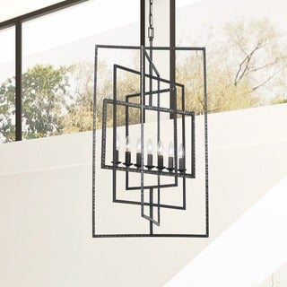 Crystorama Capri Collection Gray Raw Steel 7-light Chandelier