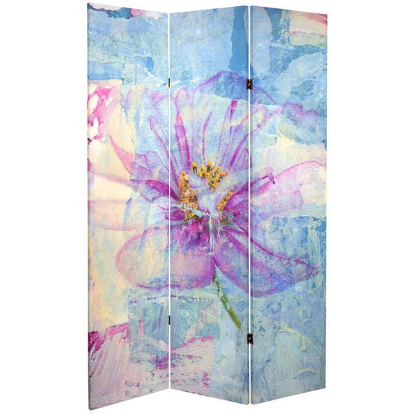 Double Sided Love Blossom 6-foot Tall Canvas Room Divider