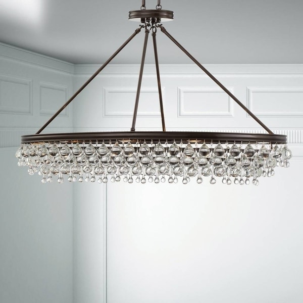 8 Light Vibrant Bronze Chandelier