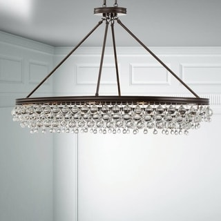 Crystorama Calypso Collection Vibrant Bronze Eight-Light Chandelier