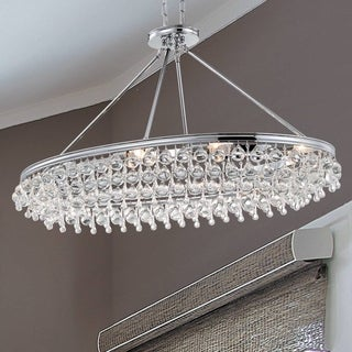 Crystorama Calypso Collection Polished Chrome Eight-light Chandelier
