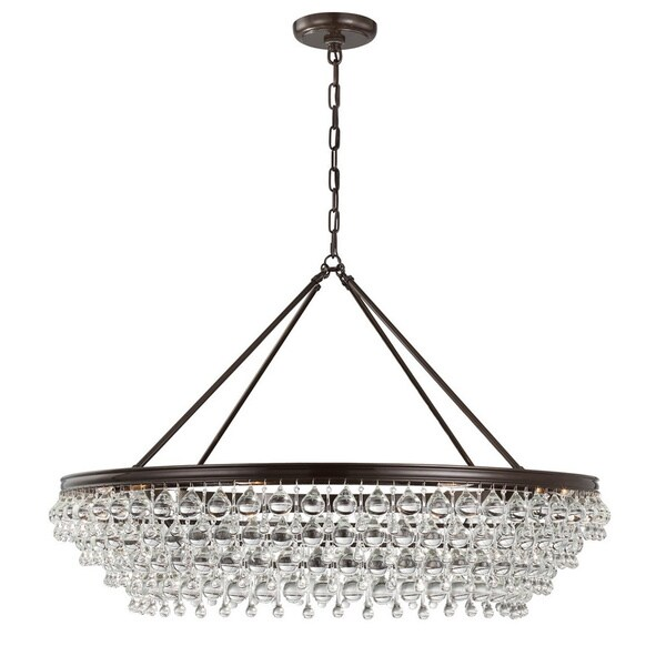 Bronze 8 light chandelier free shipping today overstock 18823960 bronze 8 light chandelier aloadofball Image collections