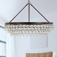 6-light Vibrant Bronze Chandelier