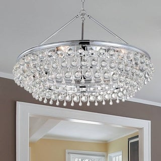 Crystorama Calypso Collection Six-Light Polished Chrome Chandelier