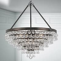 Crystorama Calypso Collection Bronze Brass/Glass 8-light Chandelier