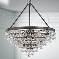 8-light Vibrant Bronze/Glass Chandelier