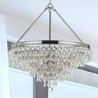 Crystorama Calypso Collection Polished Chrome 8-light Chandelier