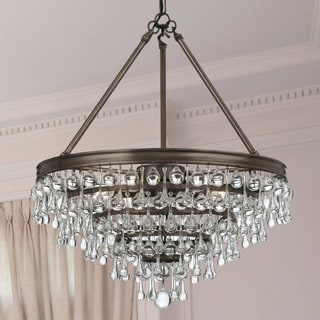 Crystorama Calypso Collection 6-Light Vibrant Bronze Chandelier
