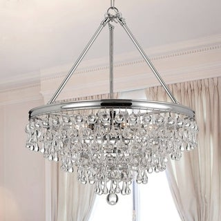 Crystorama Calypso Collection Polished Chrome 6-light Chandelier