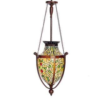 Lacey 1-light Stained Glass 41.5-inch Pendant Hanging Lamp