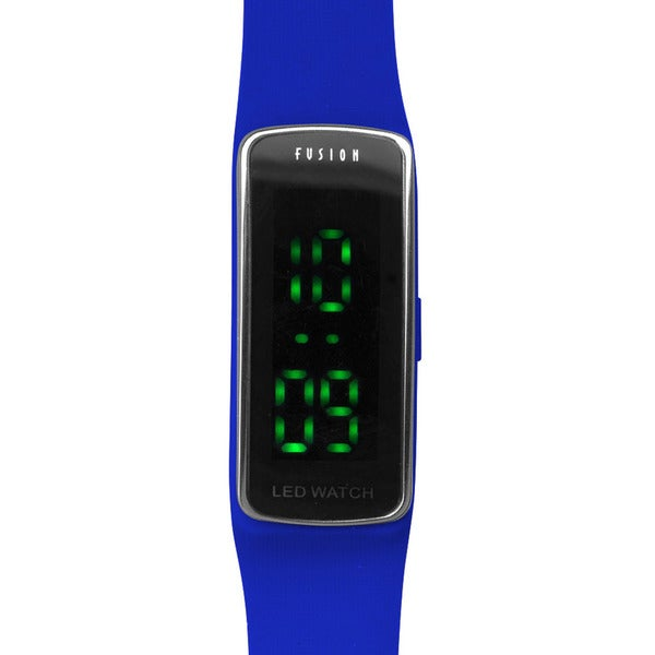 Dakota Fusion Blue Silicon and Plastic LED Watch