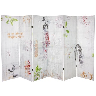 Paradise Grove 5.25-foot Tall Canvas Room Divider