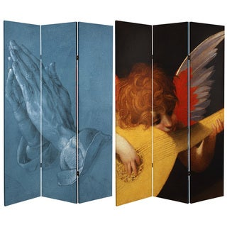 Double Sided Prayer 6-foot Tall Canvas Room Divider